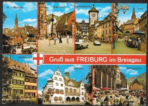 Germany, Freiburg, Baden-Wurttemberg, multiview, mailed in 1984