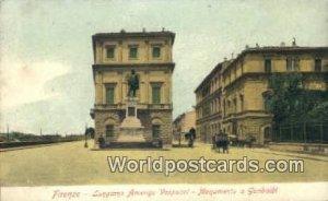 Lungarno Amerigo Vespucci, Monumento a Garibaldi Firenze, Italy Unused