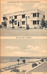 Clearwater Florida Clearwater Beach Apartments Vintage Postcard AA10661