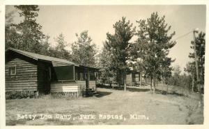 Betty Lou Camp Big Mantrap Lake 1930s PARK RAPIDS MINNESOTA RPPC postcard 4333
