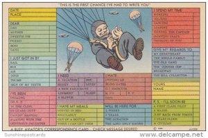 Humour Busy Aviator's Correspondence Card
