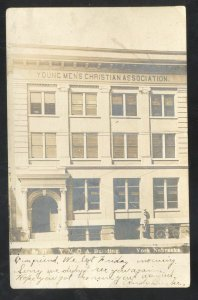 RPPC YORK NEBRASKA YMCA BUILDING 1907 OMAHA NEBR. REAL PHOTO POSTCARD