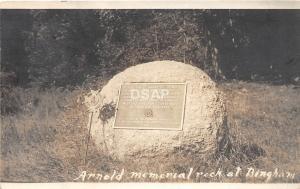 B51/ Bingham Maine Me RPPC Real Photo Postcard c1910 Arnold Memorial Rock