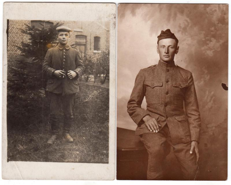 2 - RPPC, Cards with Soldiers