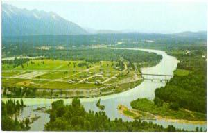 Air View of Fort Steel near Cranbrook, British Columbia, BC, Canada, Chrome
