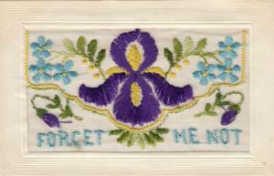 Hand Sewn, 1900-10s; Forget Me Not, Flowers, Insert, My Best Kisses
