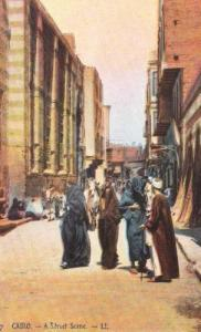 Cairo Egyptian Street Scene Vintage Postcard