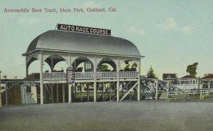 Automobile Race Track Front Gate Idora Park, CA Vintage Postcard P95