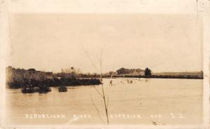 Superior NE~Homes & Factory on River~Hail Killed Nearly All the Crops RPPC 1919