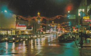 Main Street , Night , NEW WESTMINSTER , B.C. , Canada , 50-60s