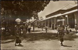 Niangara Congo Market Scne Real Photo Postcard