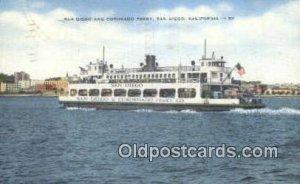 San Diego And Coronado Ferry, San Diego, CA, CA USA Ferry Ship 1956 light pos...