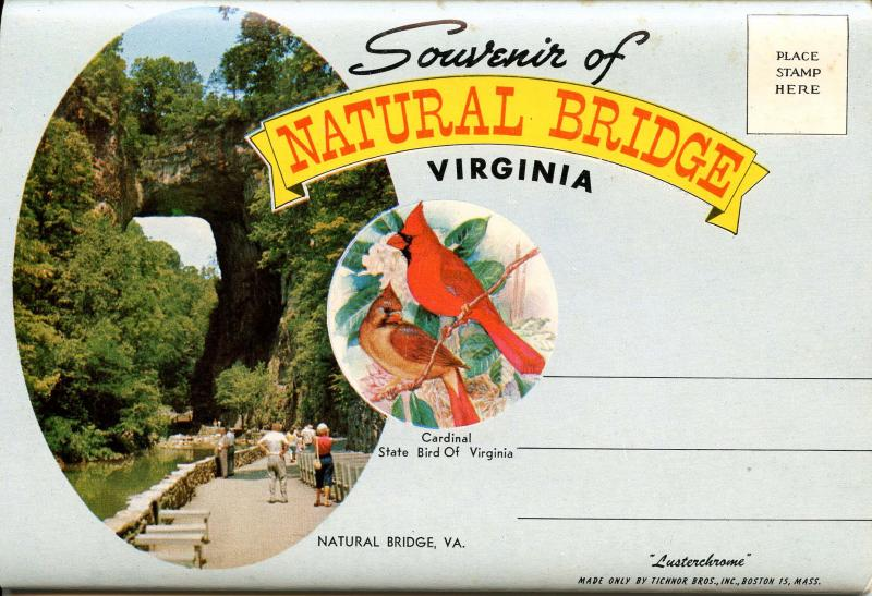Folder - Natural Bridge, Virginia.  (14 views + covers + narrative)