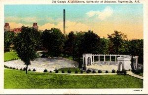 Arkansas Fayetteville Chi Omega Amphithaetre University Of Arkansas Curteich