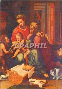 Postcard Modern Roma S Maria in Aracoeli Guilio Romano Holy Family (S XVI)