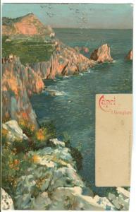 Italy, Capri, I Faraglioni, early 1900s unused Postcard
