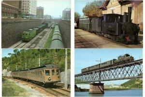 CHEMIN DE FER, LOCOMOTIVES, TRAINS IN BOX 1000 CPM Mostly 1960-1980 (L2401)