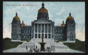 100669 USA State Capitol Des Moines Iowa Vintage PC