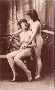 PARIS, France   SEXY NUDE LESBIAN Couple   c1920s   Risque   Postcard (2)