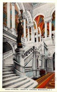Washington D C Library Of Congress Grand Staircase Curteich