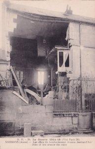 Soissons France Joan Of Arc Avenue Bomb Damage WW1 Postcard