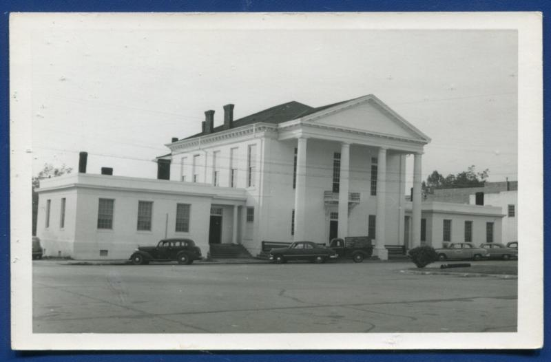 Clayton Alabama al Barbour County Court House real photo postcard RPPC