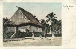 fiji islands, Chief's House (1911) Stamp, Gus. Arnold