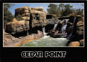 G35/ Cedar Point Amusement Park Ohio XL Postcard c1980s Thunder Canyon Ride