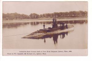 Real Photo Submarine Octopus Built Fore River Shipyard, Quincy, Massachusetts.