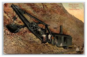 Panama Canal Steam Shovel in a rock cut