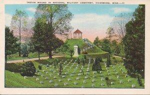 Vicksburg MS, Military Cemetery, Union Graves, Indian Mound, 1920s, Civil War