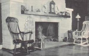 Indiana Putnamville Fireplace Old Trail Inn Albertype