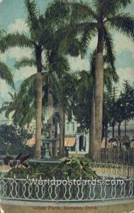 Cuba, Republica de Cuba Havana Colon Park