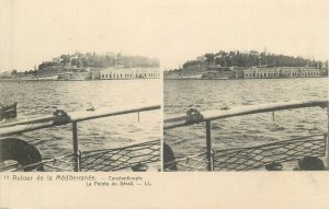 Postcard Stereographic stereo view postcard Turkey Constantinopole