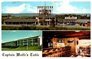 Pennsylvania  Harrisburg Keystone Motor Inn Captain Wolfe's Table