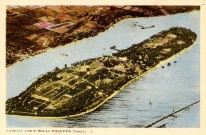 Canada - ON, Amherstburg. Bob-Lo Island Park, Aerial View
