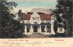 South Africa Rondebosch Lake Cecil Rhodes` House postcard