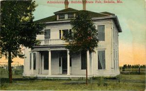 Vintage Postcard Administration Building State Fair Sedalia MO Pettis County
