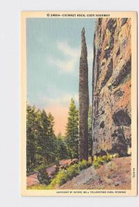 VINTAGE POSTCARD NATIONAL STATE PARK YELLOWSTONE CHIMNEY ROCK CODY HIGHWAY #1