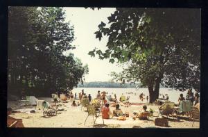 North Windham, Maine/ME Postcard, Sebago Basin Camping Area, Beach Area