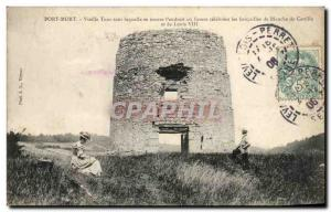Old Postcard Old Death Bridge journey Under Which Tronve If L & # 39endroit O...