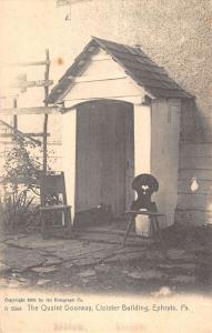 Ephrata Pennsylvania Cloister Bldg Quaint Doorway Antique Postcard K17877
