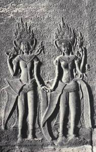RP: Angkor Vat, Devata sur le Mur , Cambodge , 30-40s