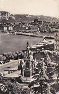 Switzerland Geneve Le monument Brunswick et la ville 1958 Photo