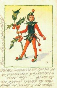 Funny Joker Boy with Mistletoe 05.62
