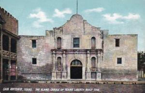 Texas San Antonio The Alamo Cradle Of Texas Liberty Built 1718