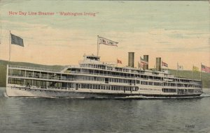 New Day Line Steamer WASHINGTON IRVING, 1913