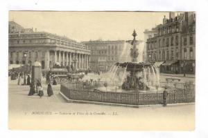 Fontaine Et Place De La Comedie, Bordeaux (Gironde), France, 1900-1910s