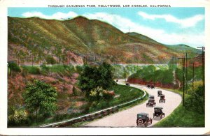 California Los Angeles View Through Cahuebga Pass 1933