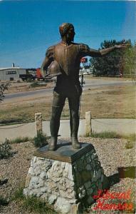 Liberal Kansas~Coronado Statue by Poco Frazier~Museum~1960s Postcard